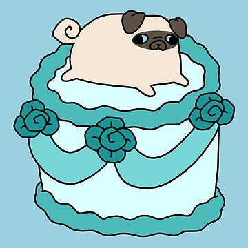 Birthday Cake Pug  by SaradaBoru