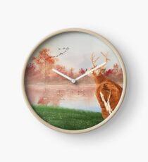 16x20 buck fever  Clock
