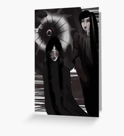 Black Figures Greeting Card