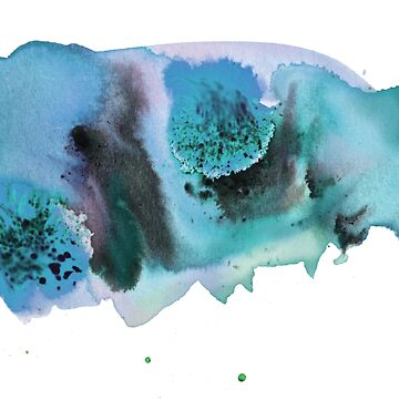 Swirls & splashes blues and purples abstract watercolor by shoshannahscrib