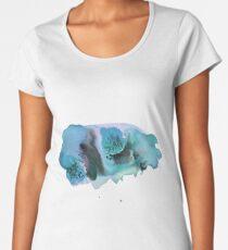 Swirls & splashes blues and purples abstract watercolor Women's Premium T-Shirt