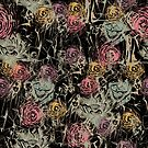 floral with ladies, black by Lara Wolf
