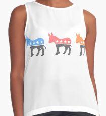 Pastel Democratic Donkeys Contrast Tank