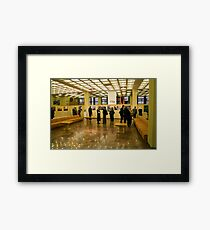 OPEN (my exhibition today) Framed Print