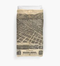 Vintage Pictorial Map of Helena MT (1890) Duvet Cover