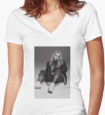 BILLIE EILISH Women's Fitted V-Neck T-Shirt