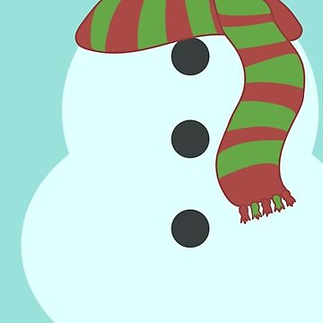 Snowman Scarf Christmas by RedMouseGames