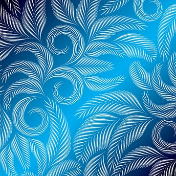 Winter Blue Frosted Window Design  by Digitalbcon