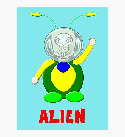 An Alien Bug Baby design Photographic Print