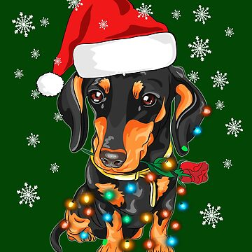Dachshund Christmas T-Shirt Gifts Cute Dog Lovers by charlene1514
