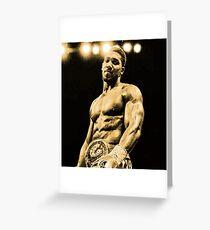 Anthony Joshua Heavyweight Boxing Greeting Card