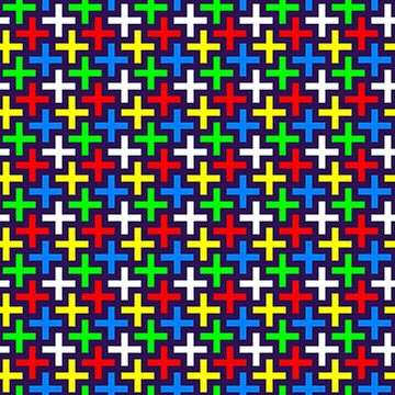 Colorful crosses pattern by igorsin