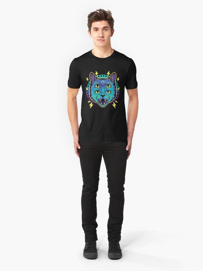 Alternate view of 4 Eye Cat Slim Fit T-Shirt