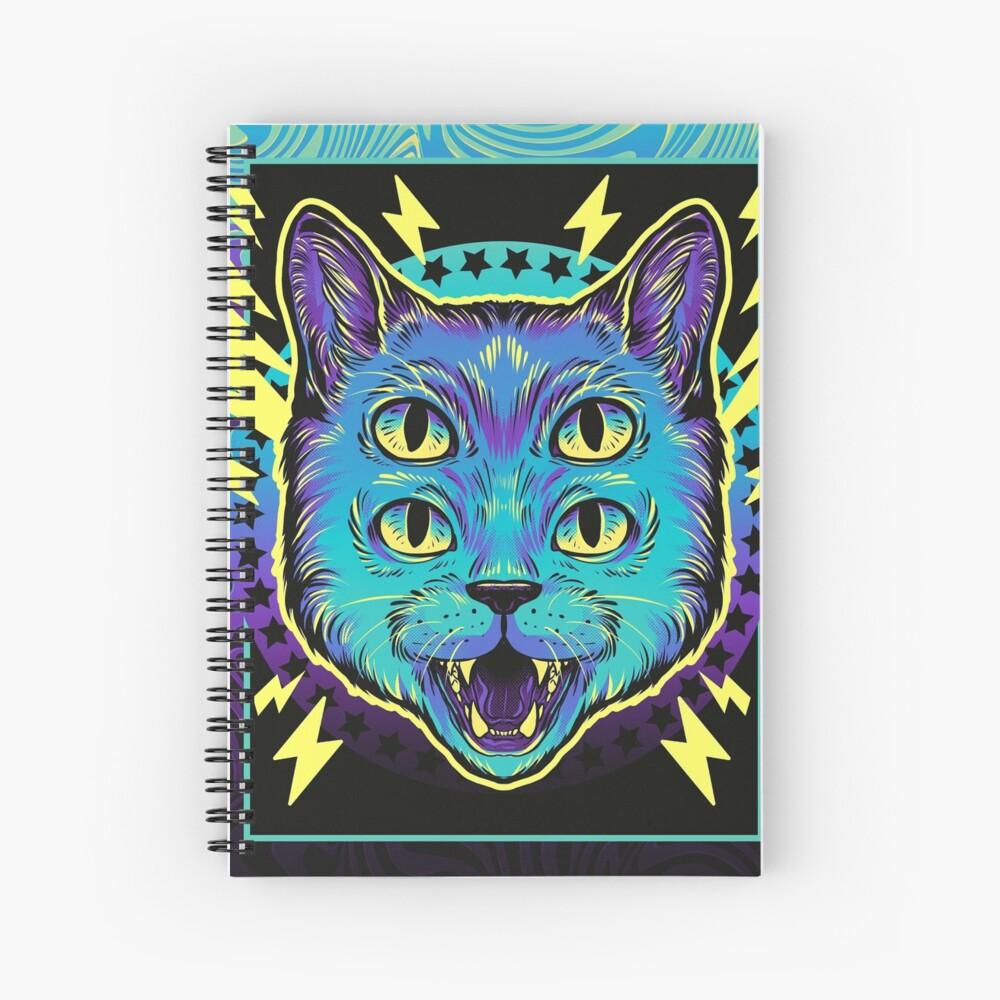 4 Eye Cat Spiral Notebook
