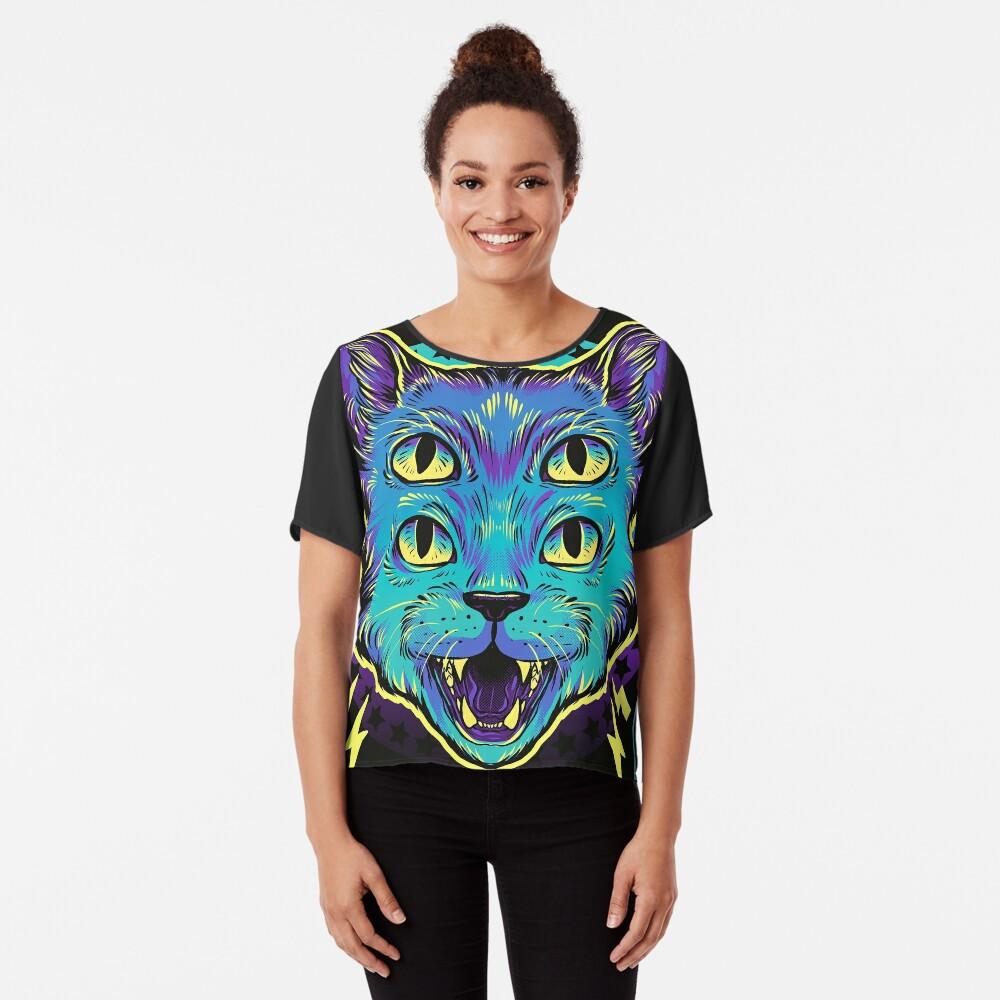 4 Eye Cat Chiffon Top