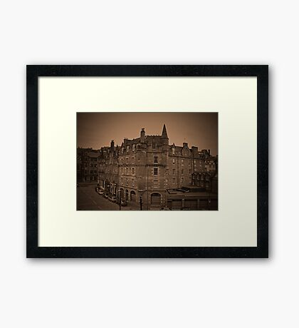 View of Edinburgh. Framed Print