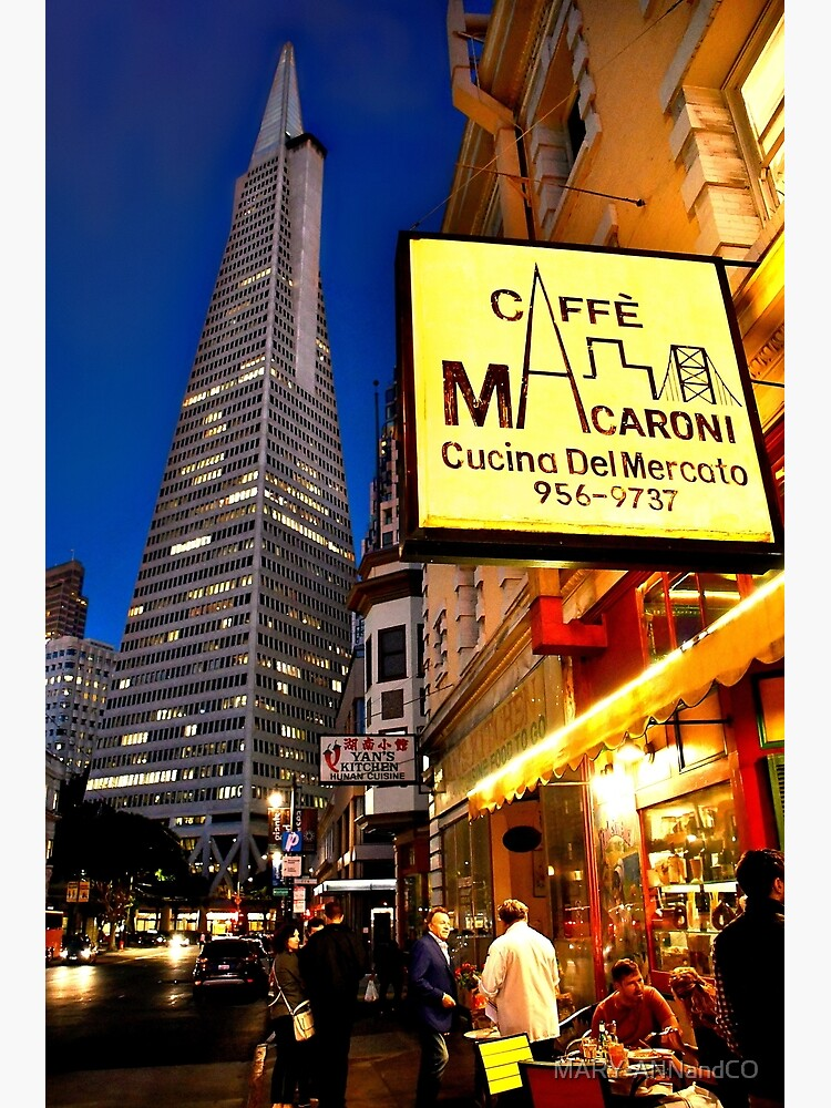 Café Macaroni, Financial District, San Francisco  by MARY-ANNandCO