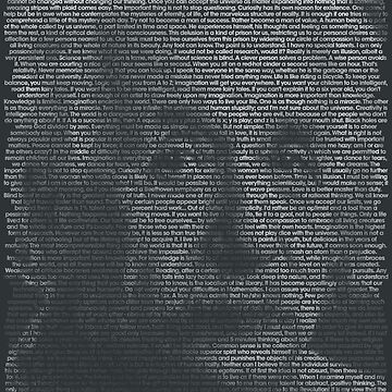 Albert Einstein Quote Portrait by qqqueiru