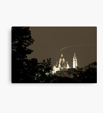 France - Paris 75019 - By night Canvas Print