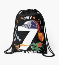 "7th Birthday Boy ""Only 7 And A Knight Already"" Gift Drawstring Bag"