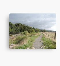 Stormy Yorkshire Pathway Canvas Print