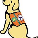Yellow Labrador Hearing Dog Cartoon by HappyLabradors