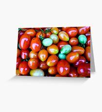 Thinking Summer Tomatoes Greeting Card