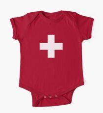 Swiss Flag Baby Onesie Jumpsuit Pyjama Clothing - Schweizer One Piece - Short Sleeve