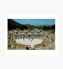 View of Collonade from the Great Theatre, Ephesus Art Print