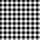 Large Black Christmas Gingham Plaid Check by podartist