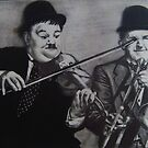 LAUREL & HARDY..PENCIL ON PAPER by suzanblac