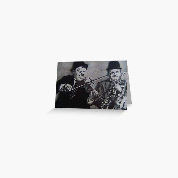LAUREL & HARDY..PENCIL ON PAPER Greeting Card