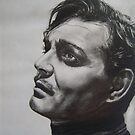 CLARK GABLE..PENCIL ON PAPER by suzanblac