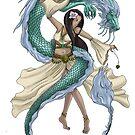 Fantasy Dragon Dancer Digital Illustration by Charmaine Bailey