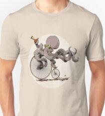 Radfahren-Krake-T-Shirt Krakenliebhaber Zyklus-Liebhaber. Slim Fit T-Shirt