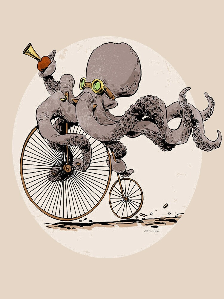 Radfahren-Krake-T-Shirt Krakenliebhaber Zyklus-Liebhaber. von Chouaibkharrazz