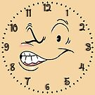 Clock 1930s' Style Squint-eyed Tough Guy without Cigar by Gerard de Souza