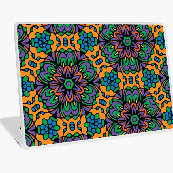 Royal Retro Floral Garden Laptop Skin