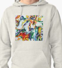 Abstrait multicolor flowers Pullover Hoodie