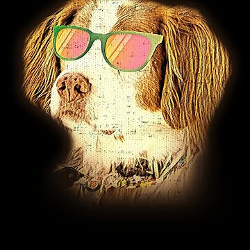 Brittany Neon Dog Sunglasses by jzelazny