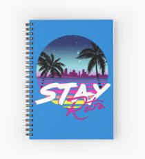 Stay Retro - Miami Vice Synthwave Nights  Spiral Notebook