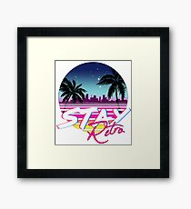 Stay Retro - Miami Vice Synthwave Nights  Framed Print