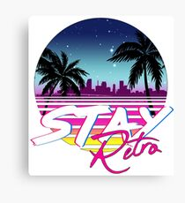 Stay Retro - Miami Vice Synthwave Nights  Canvas Print