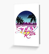 Stay Retro - Miami Vice Synthwave Nights  Greeting Card