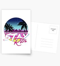 Stay Retro - Miami Vice Synthwave Nights  Postcards