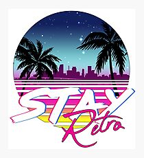 Stay Retro - Miami Vice Synthwave Nights  Photographic Print