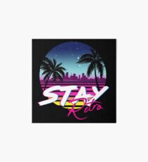 Stay Retro - Miami Vice Synthwave Nights  Art Board Print