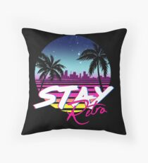 Stay Retro - Miami Vice Synthwave Nights  Throw Pillow