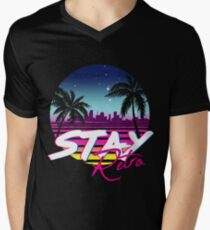 Stay Retro - Miami Vice Synthwave Nights  V-Neck T-Shirt