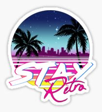 Stay Retro - Miami Vice Synthwave Nights  Sticker